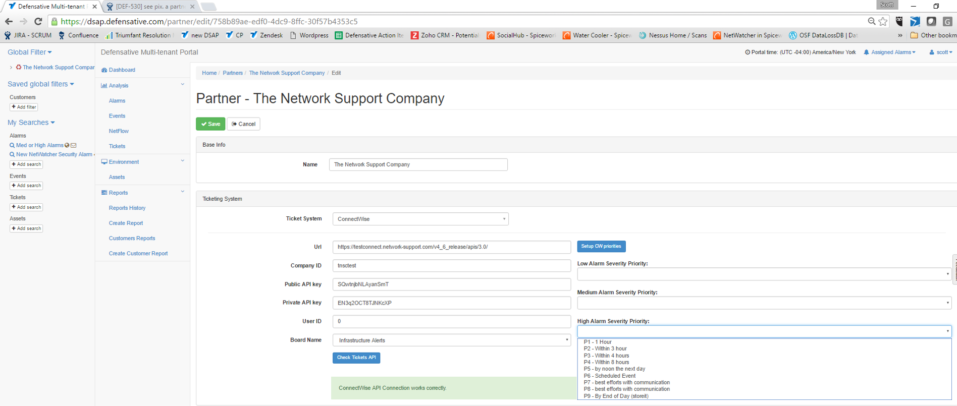 MSP Portal - Overview: Setting up ConnectWise integration in